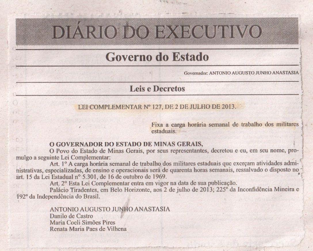Diario do executivo